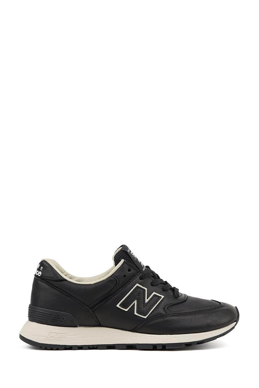 Черные кожаные кроссовки №576