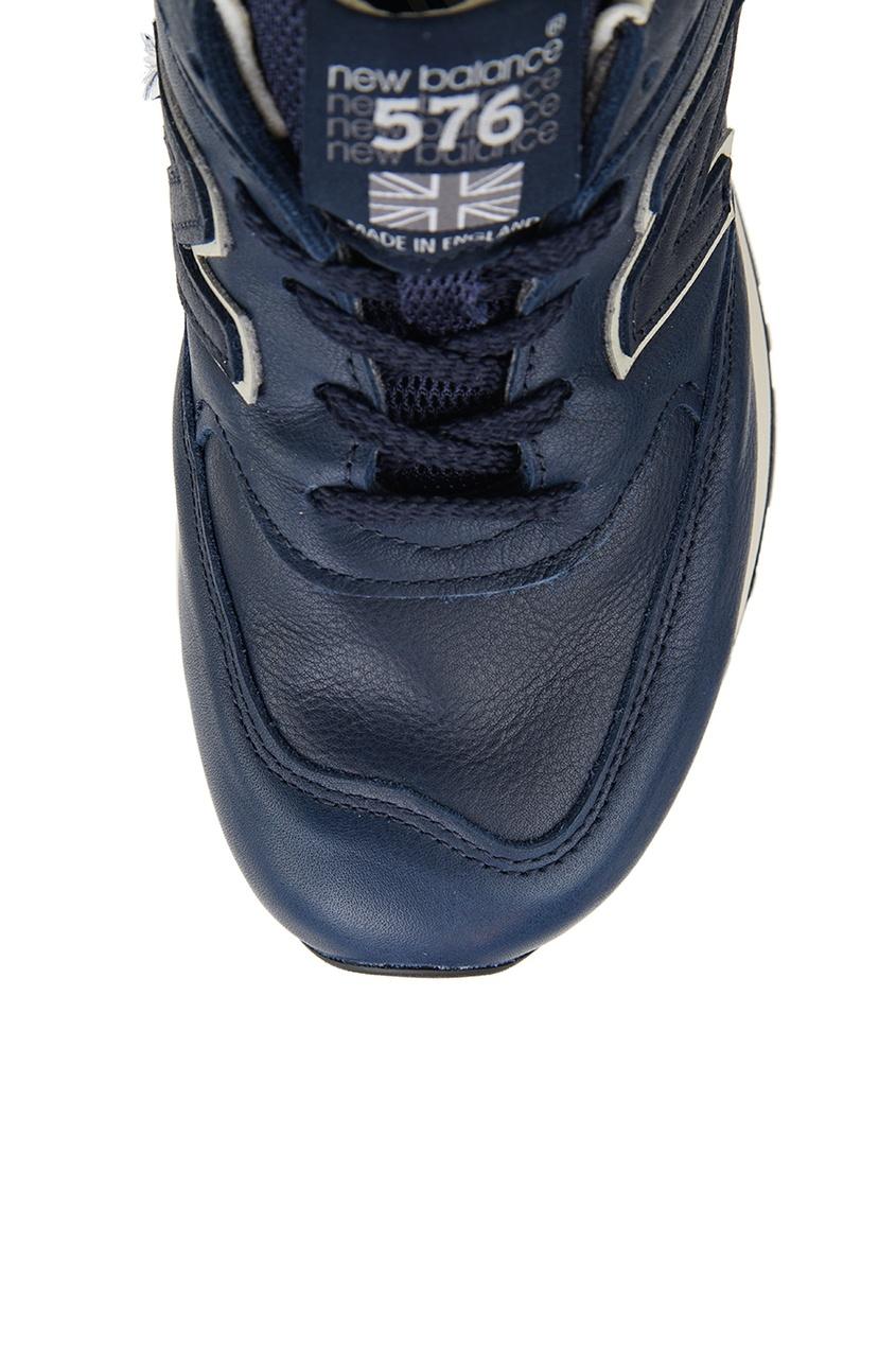 New Balance Синие кожаные кроссовки №576 кроссовки new balance gw500lgt b