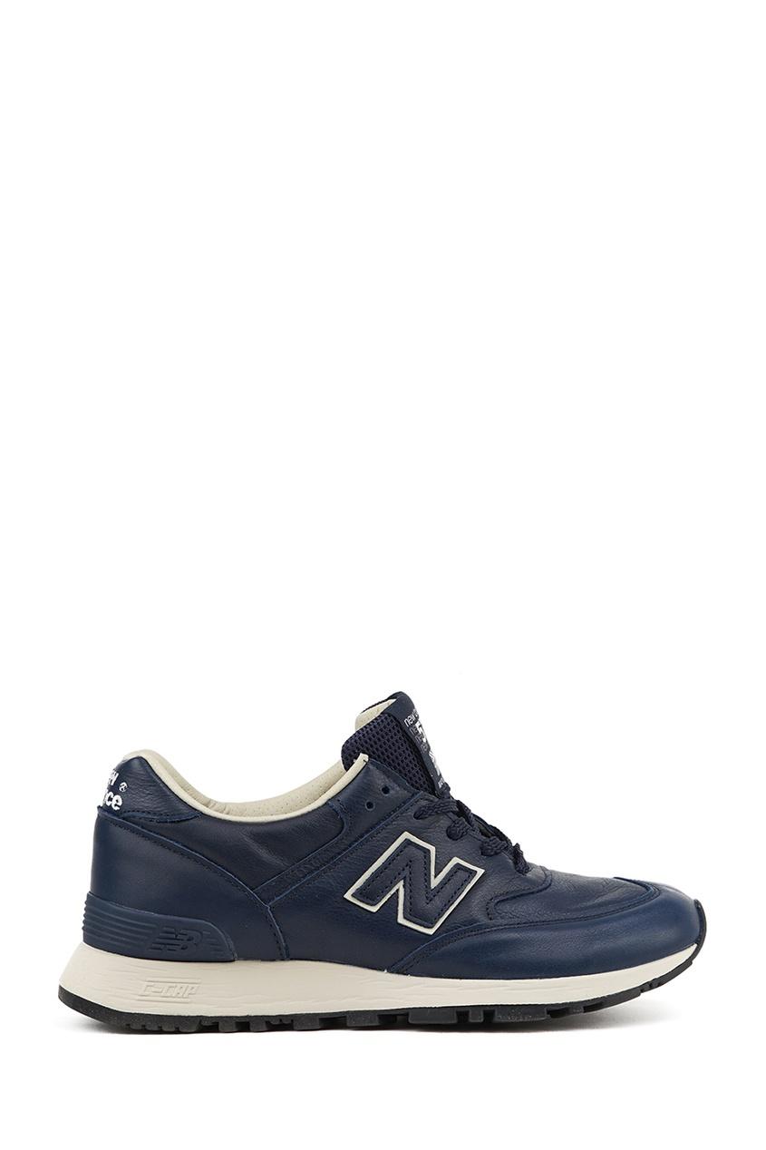 New Balance Синие кожаные кроссовки №576 купить new balance u420ukg в сургуте