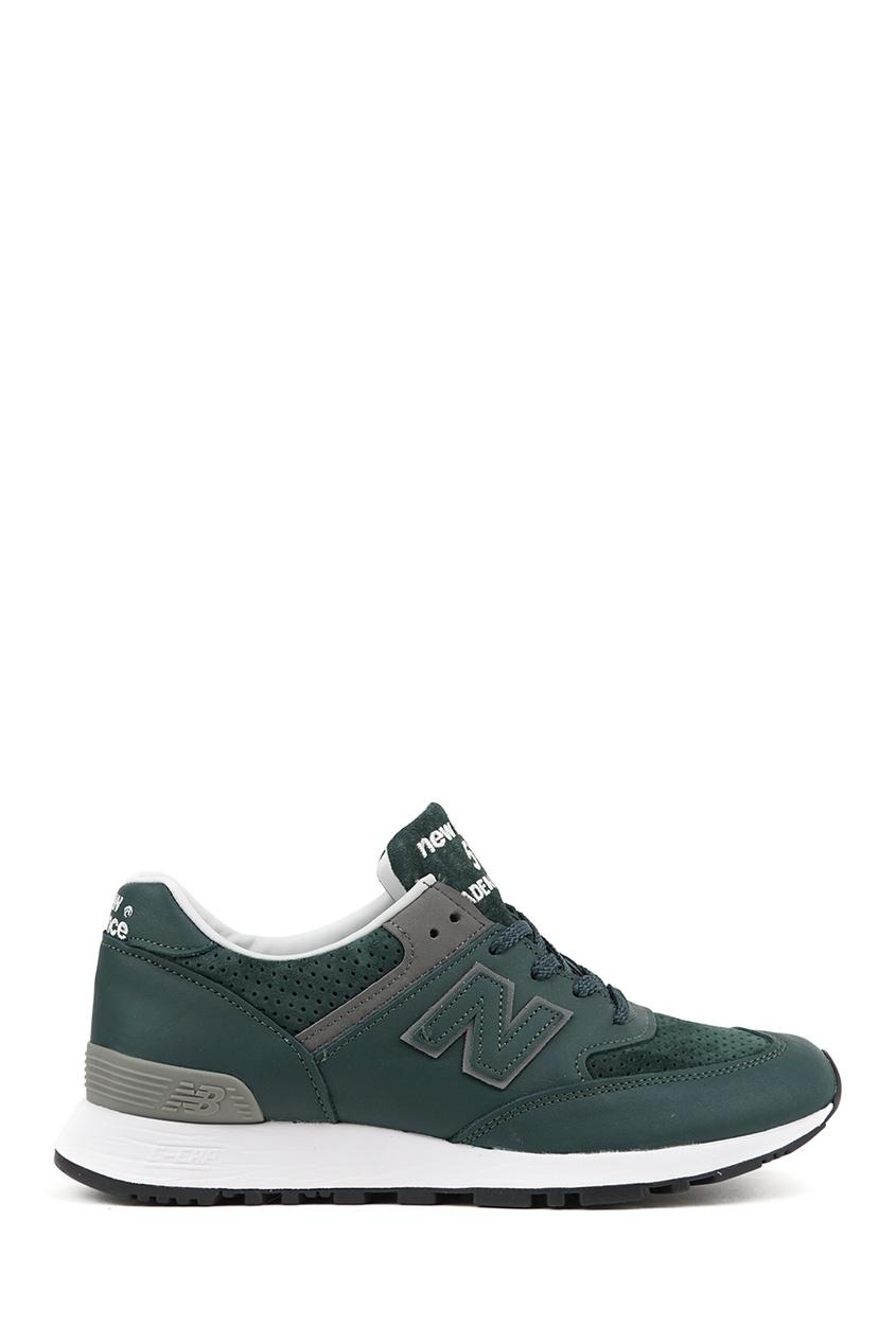 New Balance Зеленые кожаные кроссовки №576 new balance футболка chiks