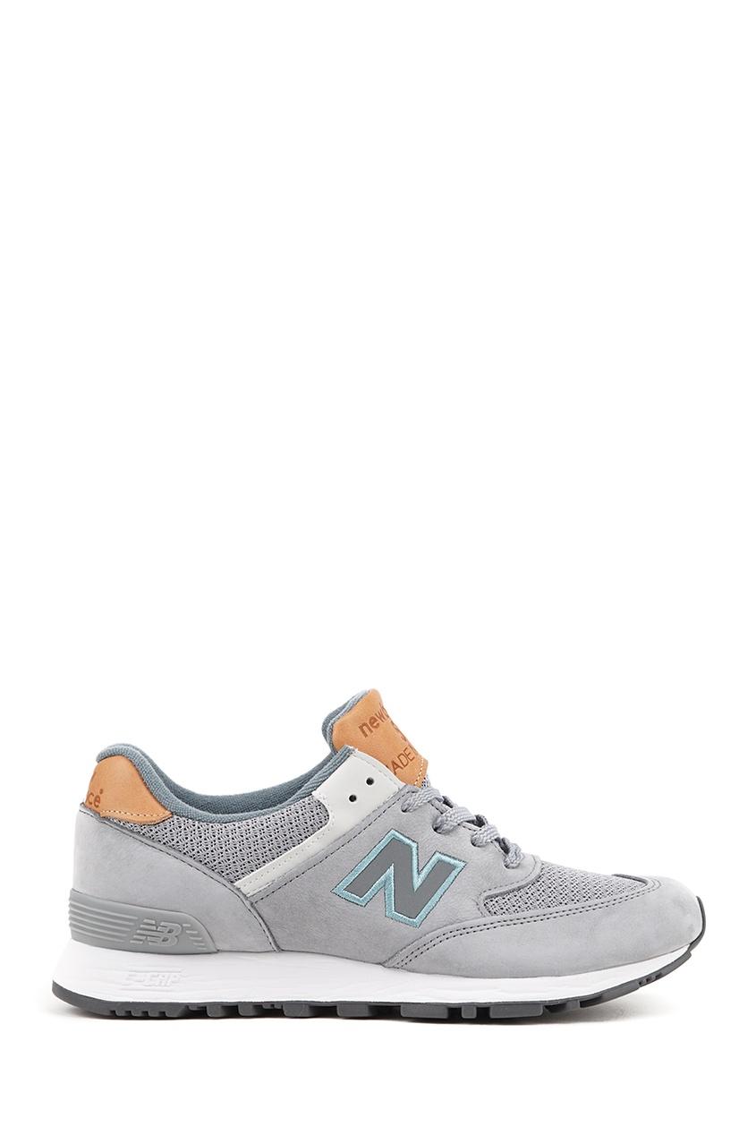 New Balance Серые кроссовки из нубука №576 billionaire серые кроссовки с бархатными вставками