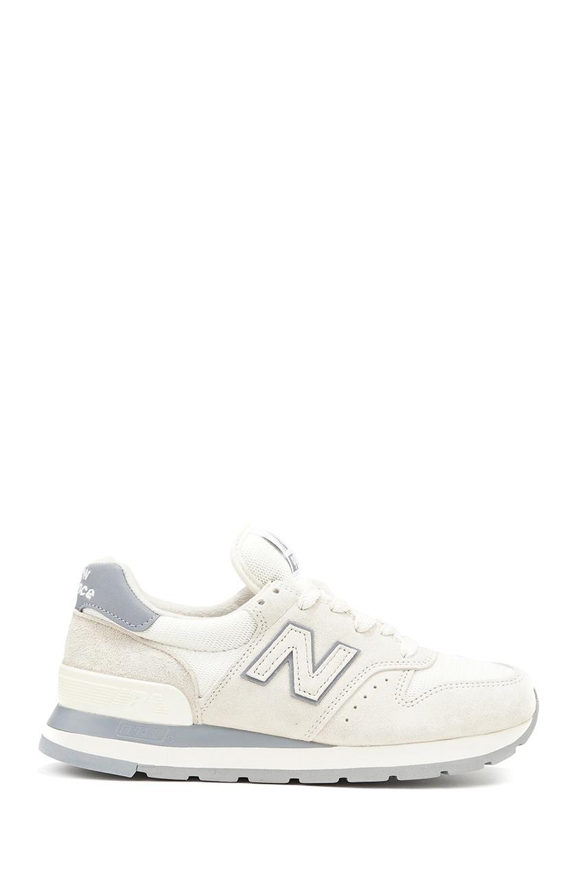 New Balance Белые замшевые кроссовки №995 купить new balance u420ukg в сургуте
