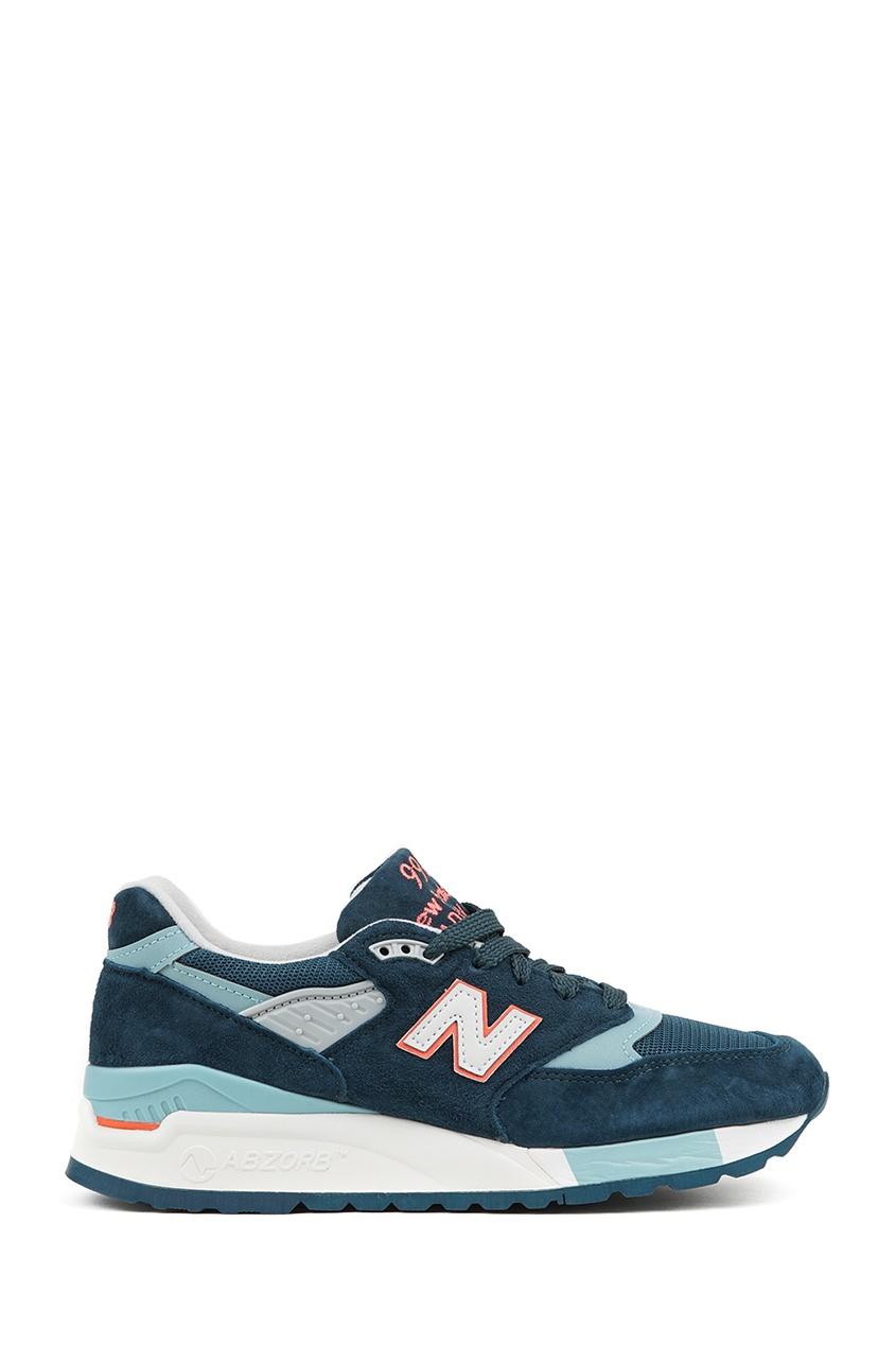 Бирюзовые замшевые кроссовки №998