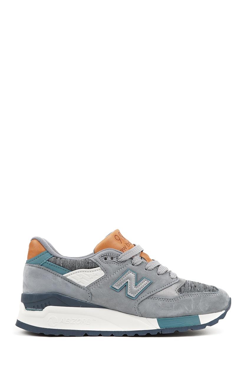 New Balance Серые кроссовки из замши №998 купить new balance u420ukg в сургуте