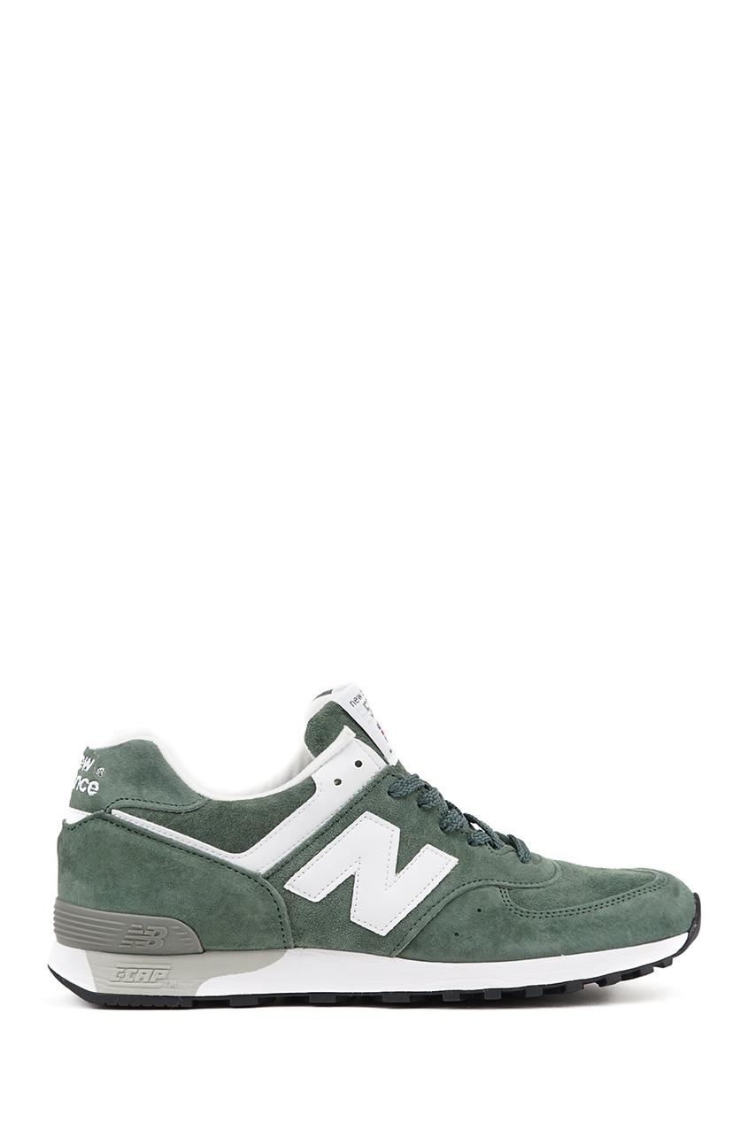 New Balance Зеленые замшевые кроссовки №576 new balance голубые кроссовки из замши 997