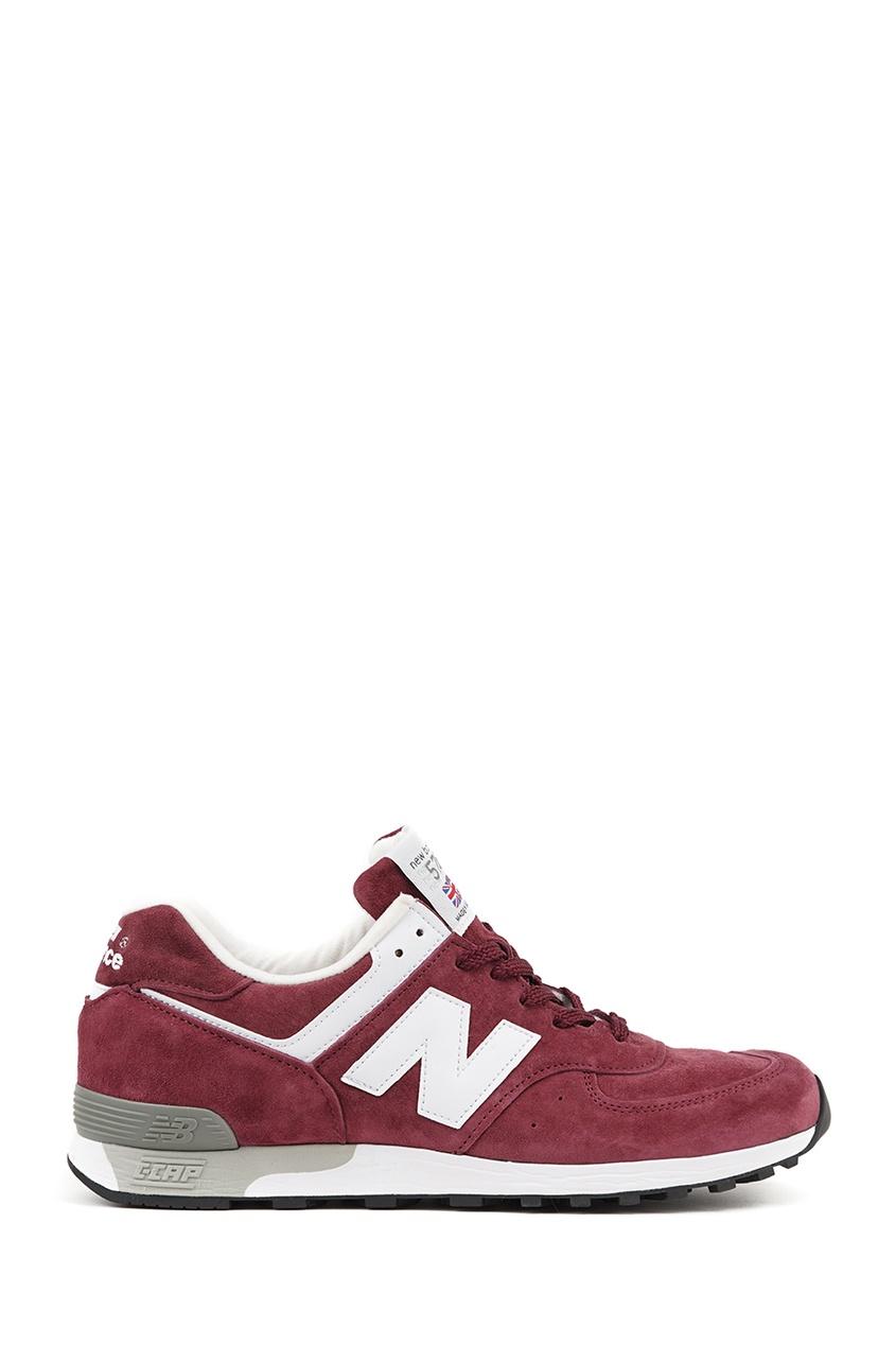 New Balance Бордовые замшевые кроссовки №576 купить new balance u420ukg в сургуте