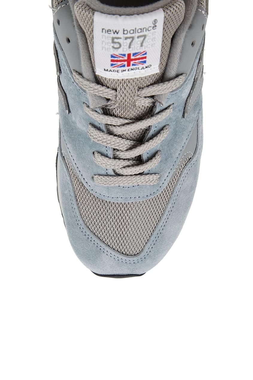 New Balance Голубые замшевые кроссовки №577 new balance голубые кроссовки из замши 997