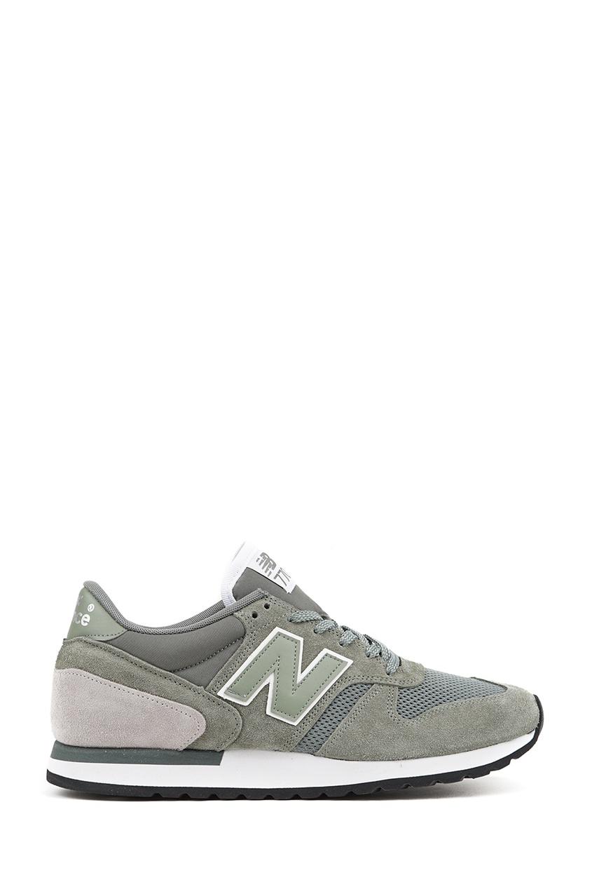 New Balance Зеленые замшевые кроссовки №770 купить new balance u420ukg в сургуте