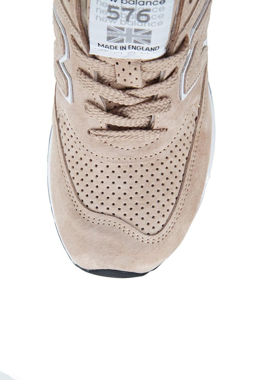 New Balance Замшевые кроссовки песочного цвета №576