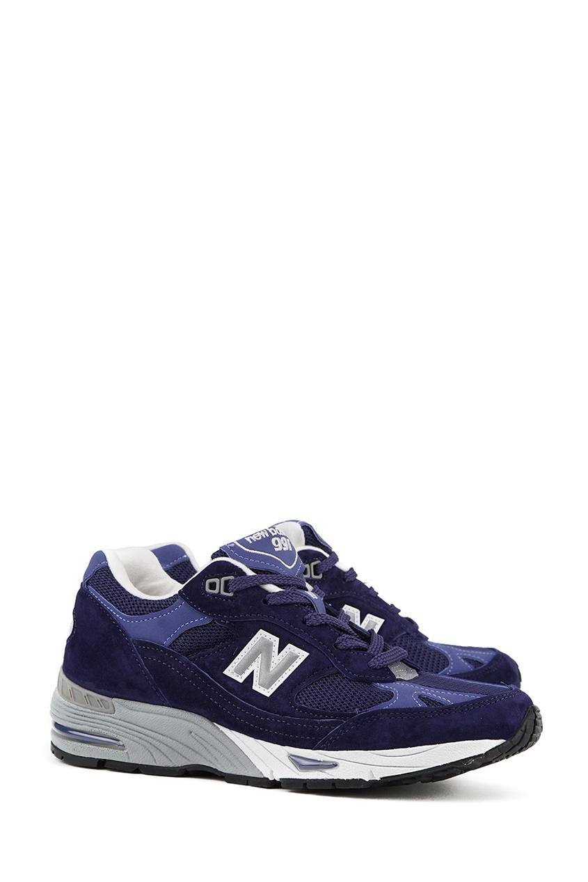 New Balance Синие замшевые кроссовки №991 new balance голубые кроссовки из замши 997