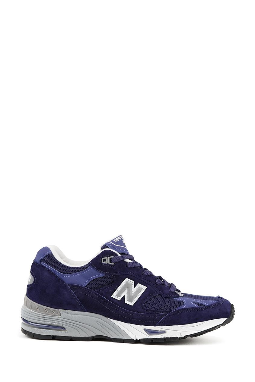New Balance Синие замшевые кроссовки №991 купить new balance u420ukg в сургуте