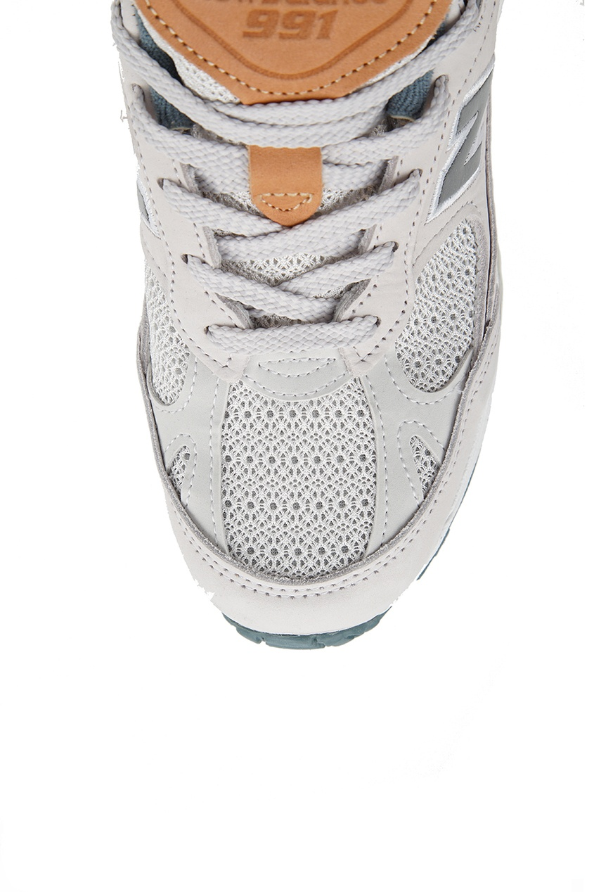где купить New Balance Бежевые кроссовки из нубука №991 по лучшей цене