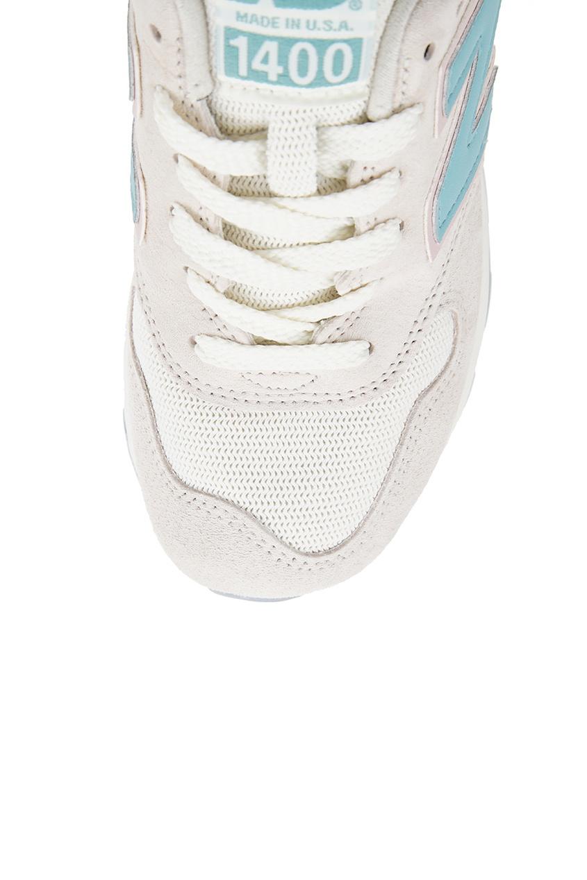 Бежевые кроссовки из замши №1400