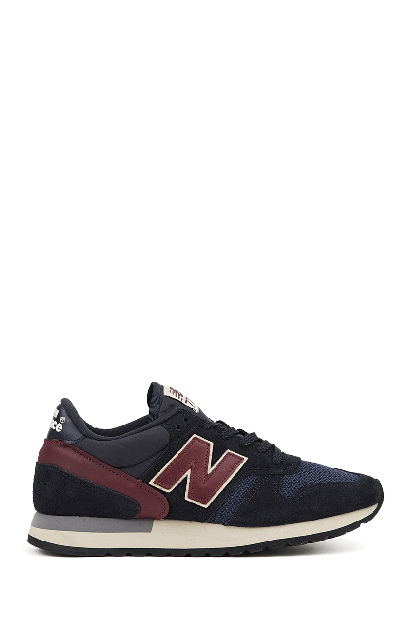 New Balance Темно-синие кроссовки из замши №770 купить new balance u420ukg в сургуте