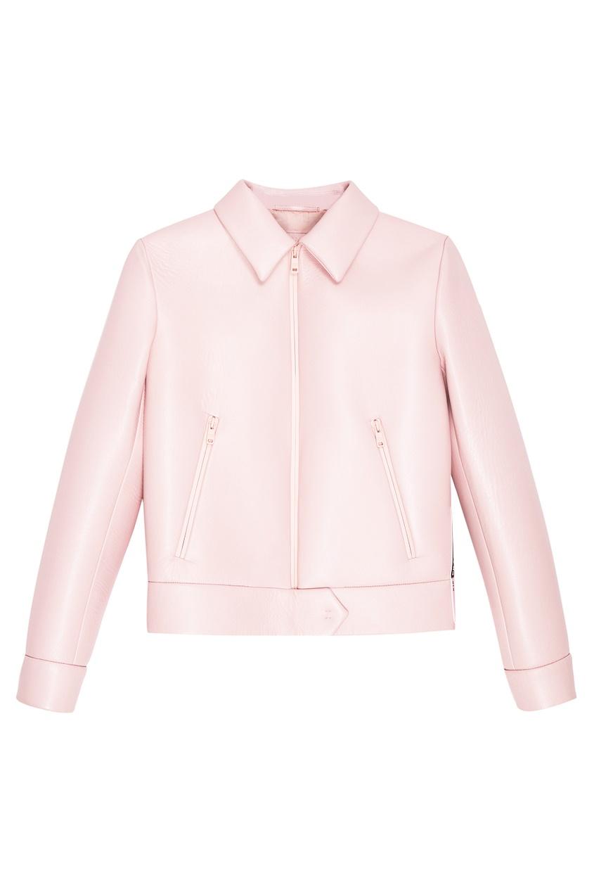 Prada Розовая кожаная куртка