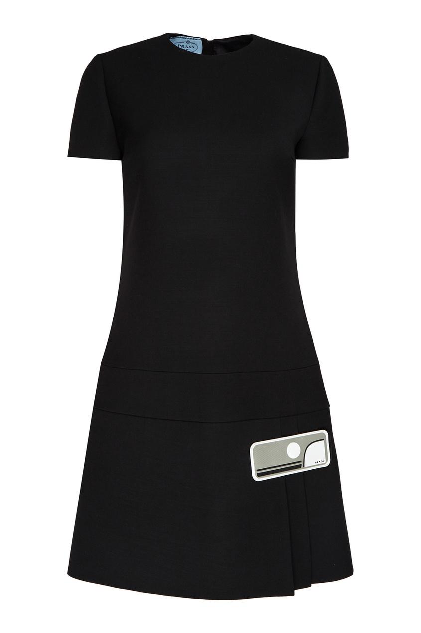 Prada Шерстяное платье-мини prada шерстяное платье мини
