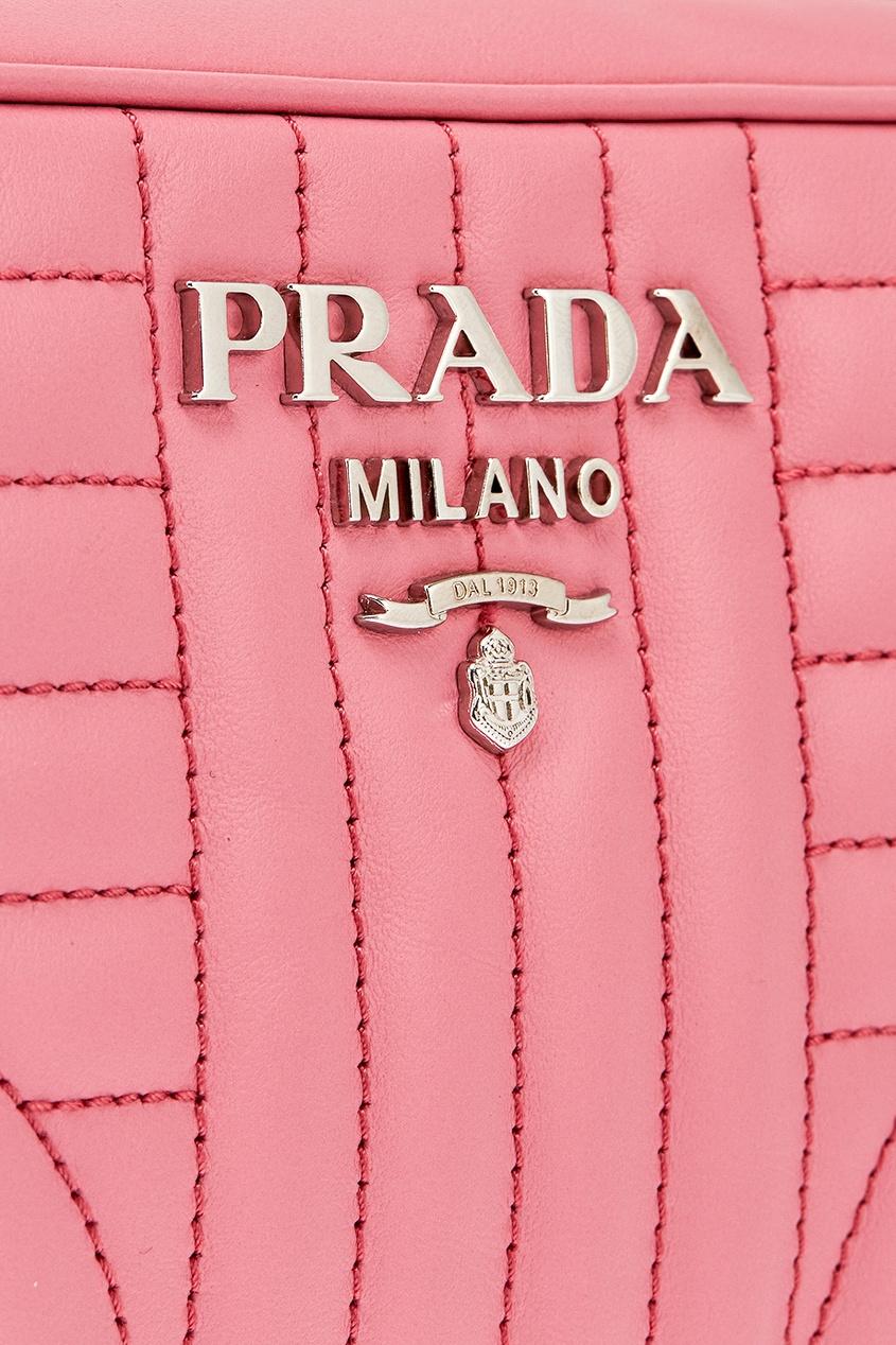 Prada Розовая кожаная сумка Diagramme prada сумка от prada 100203