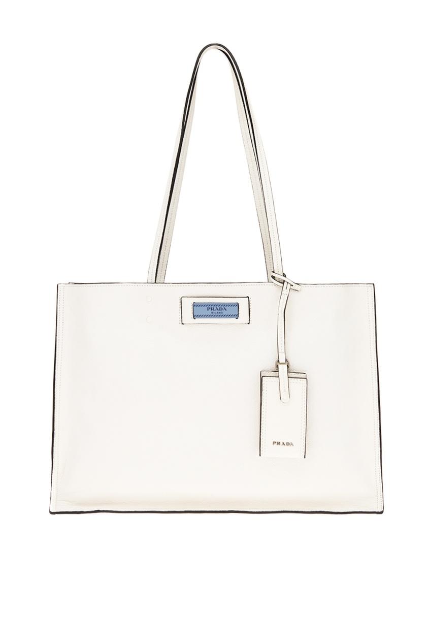 Белая кожаная сумка Etiquette
