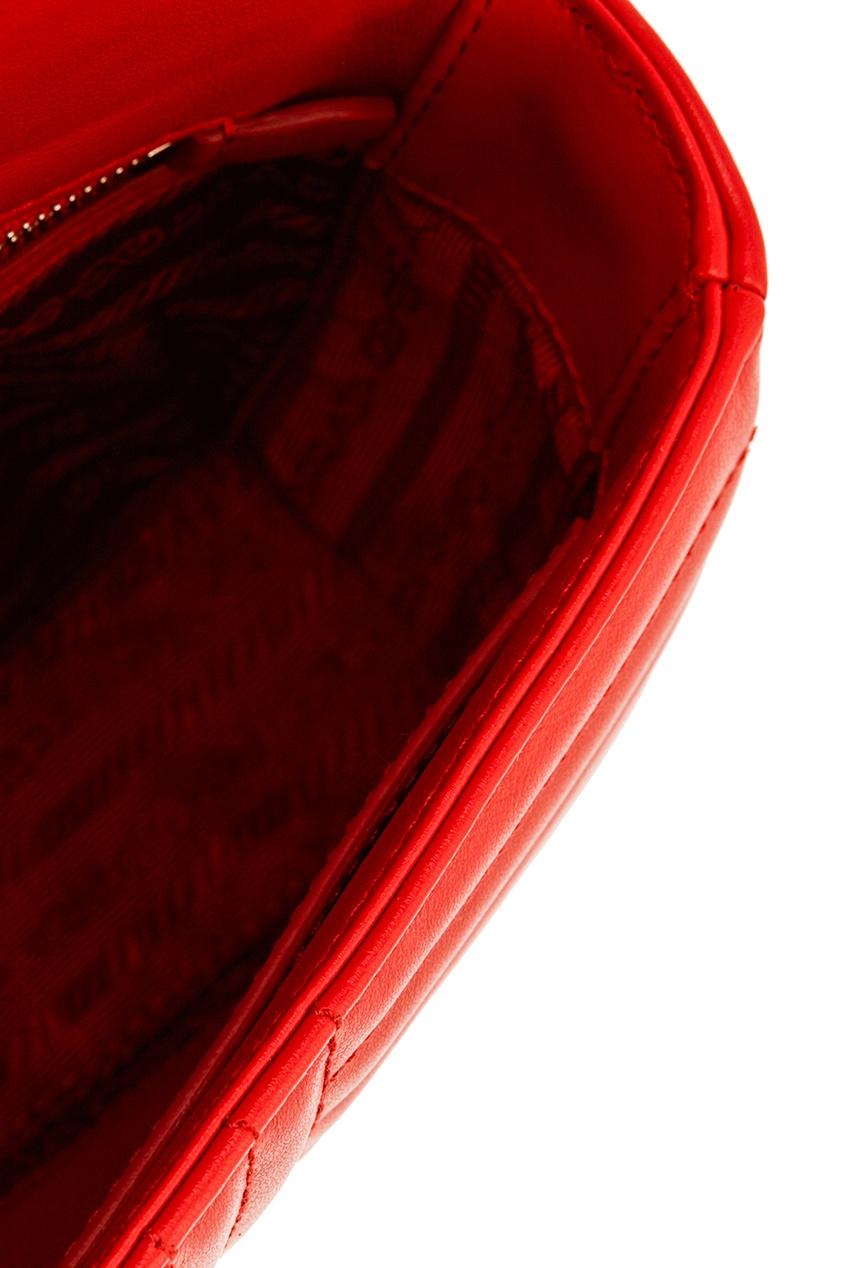 Prada Красная стеганая сумка Diagramme цена 2017