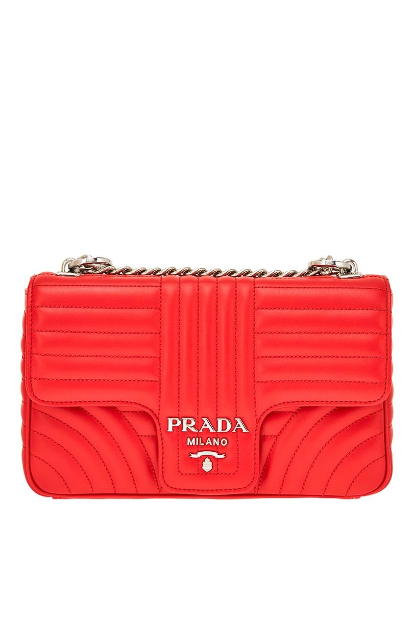 Prada Красная стеганая сумка Diagramme prada красная стеганая сумка diagramme