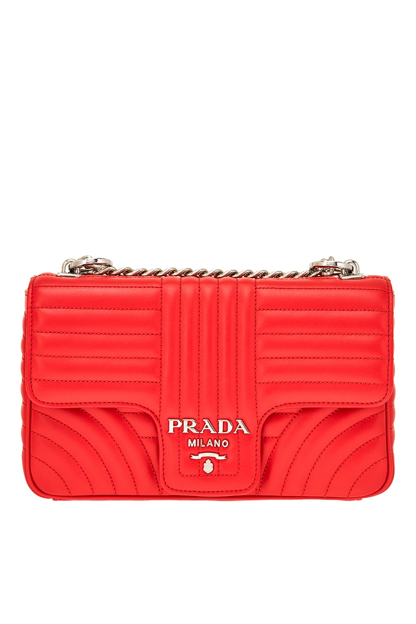 Prada Красная стеганая сумка Diagramme