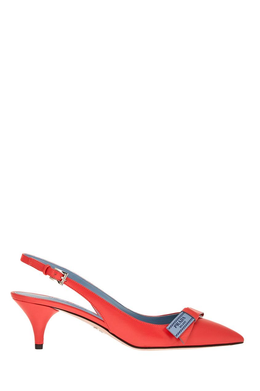 Prada Красные туфли с логотипом