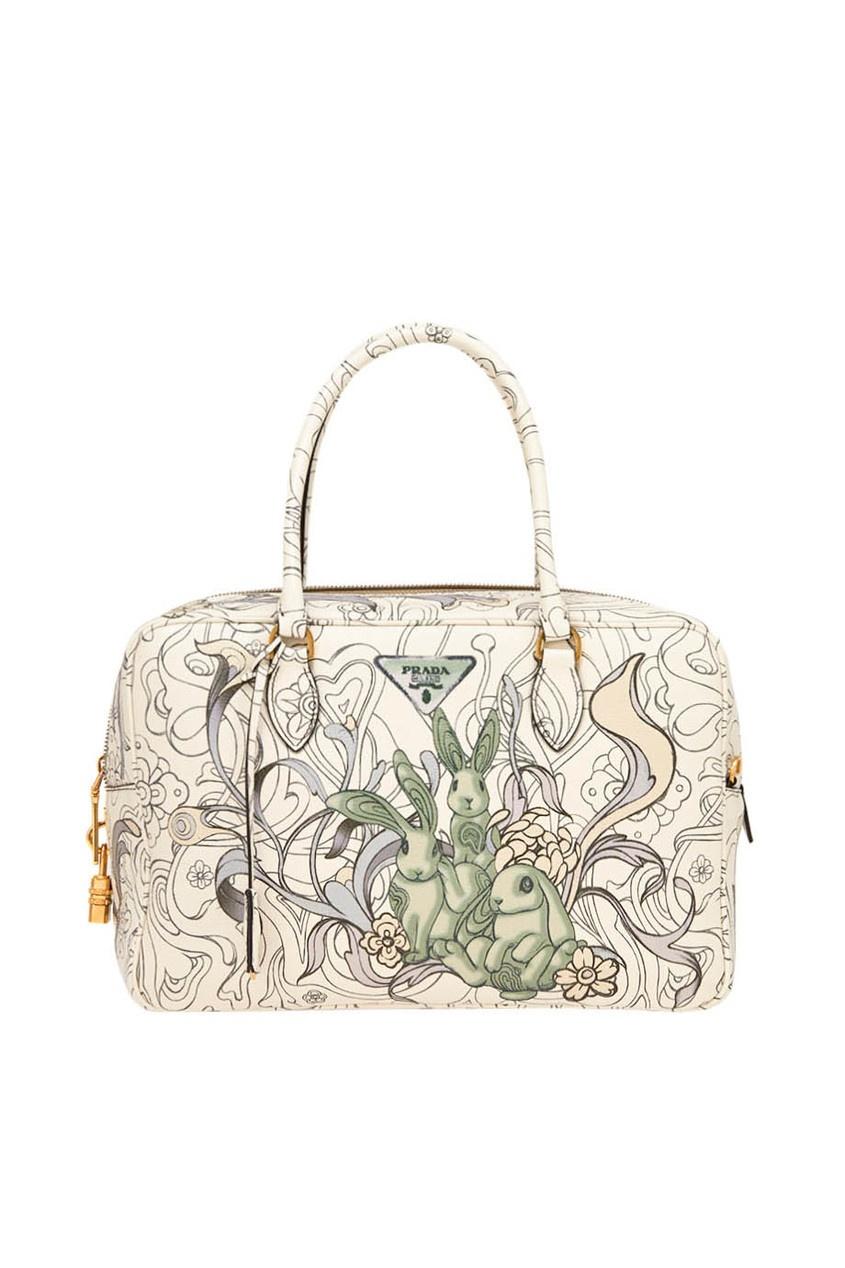 Кожаная сумка с принтом