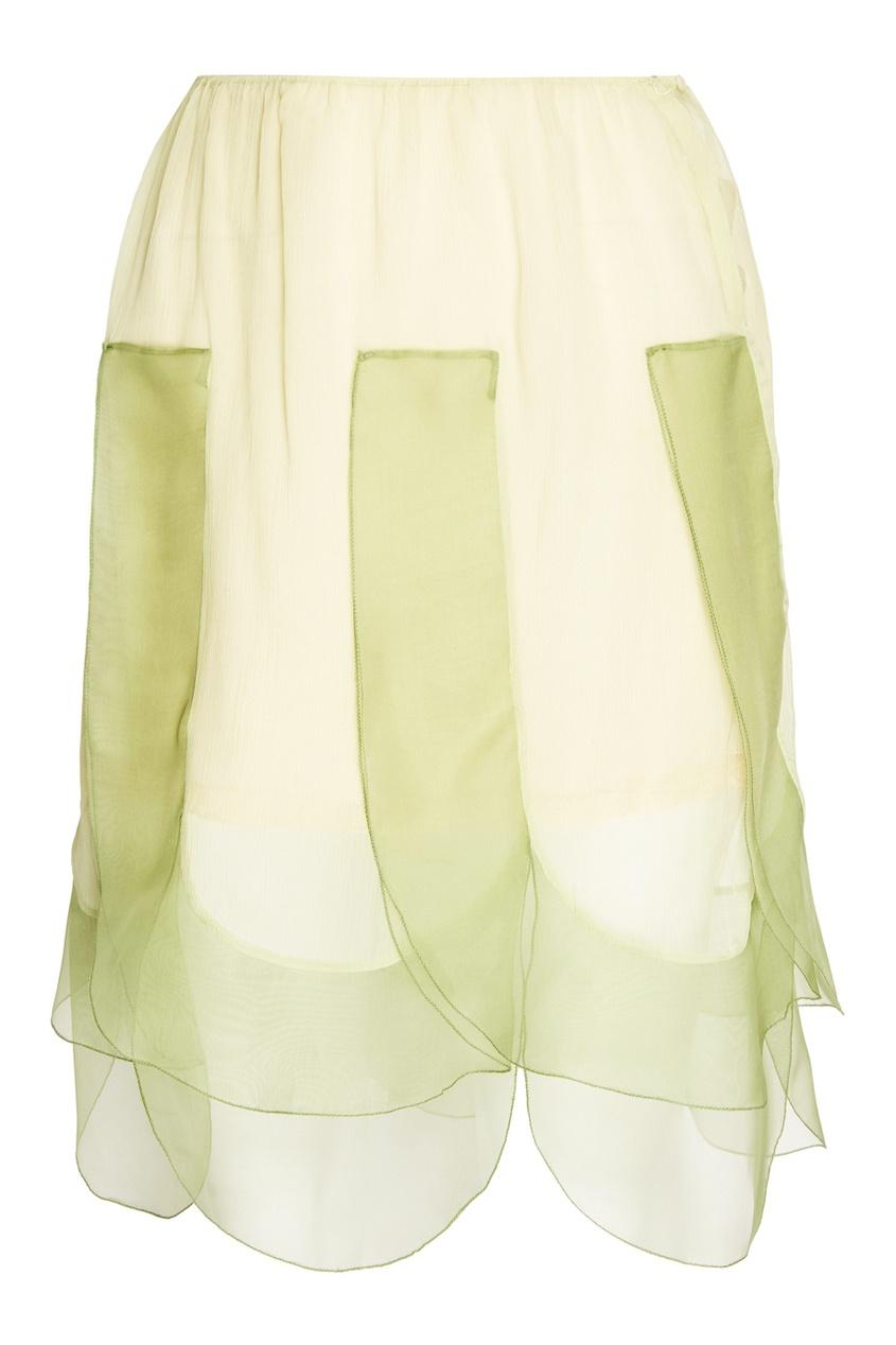 Prada Шелковая юбка юбка brusnika brusnika br032ewwsq30