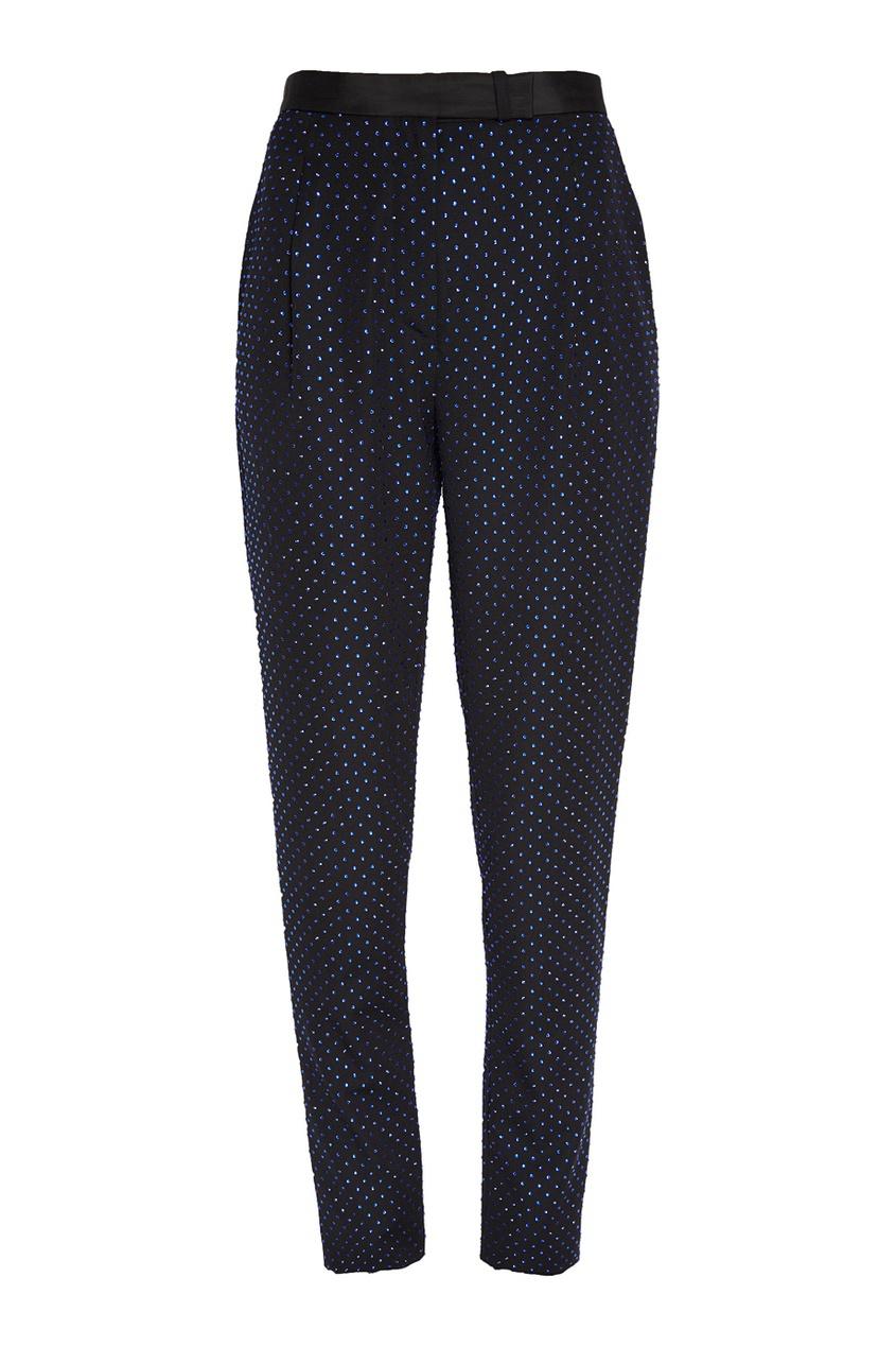 Dundas Шерстяные брюки с кристаллами dundas комбинированное платье со шлейфом