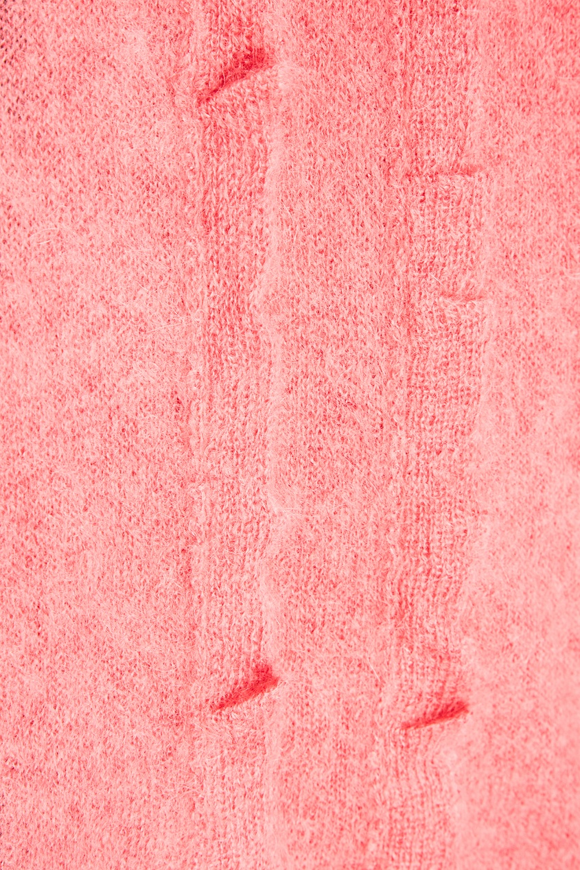 Розовый джемпер из мохера