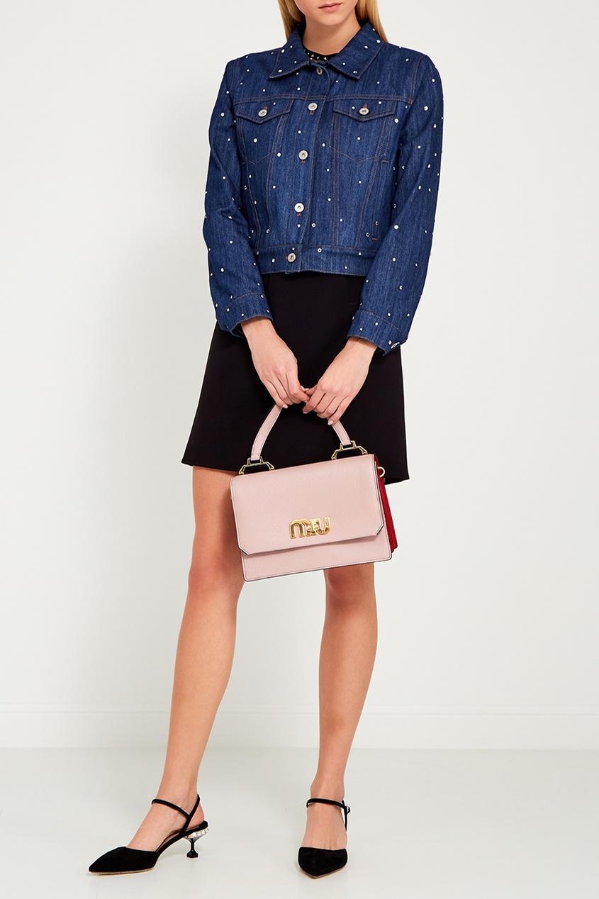 Miu Miu Розовая сумка с логотипом Miu Logo