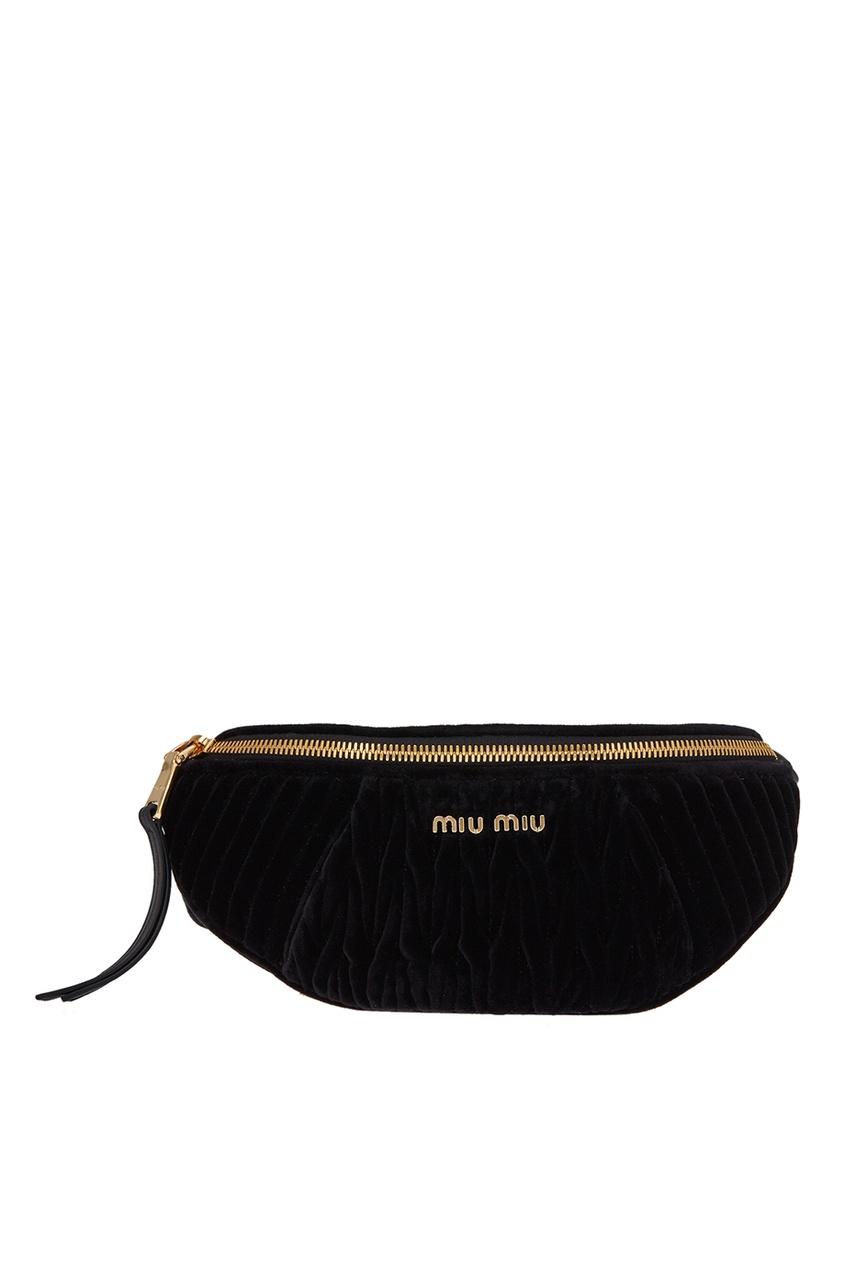 женская сумка miu miu, черная