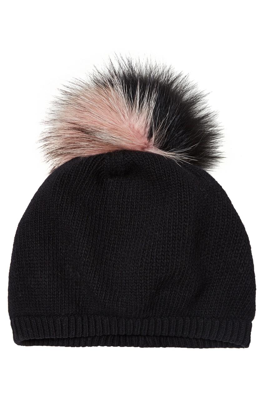 женская шапка miu miu, черная