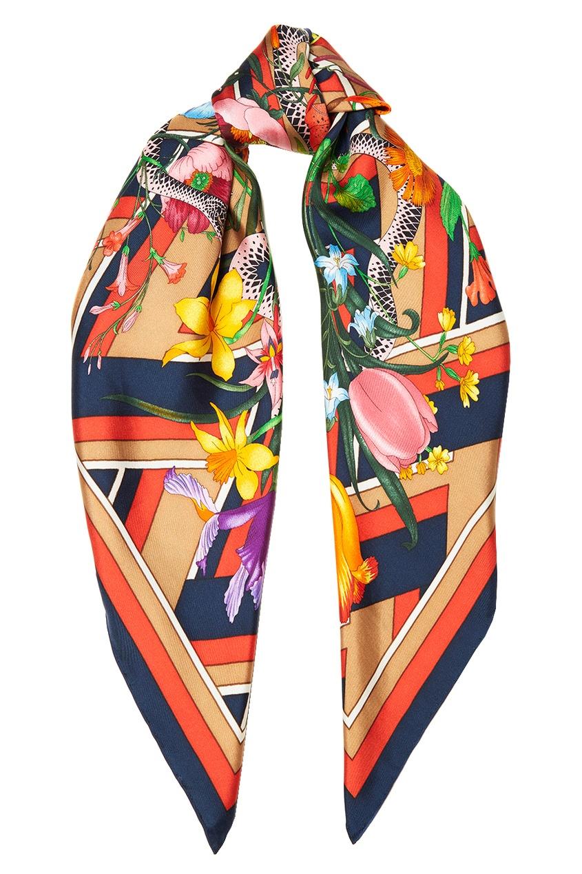 Шелковый платок с цветами