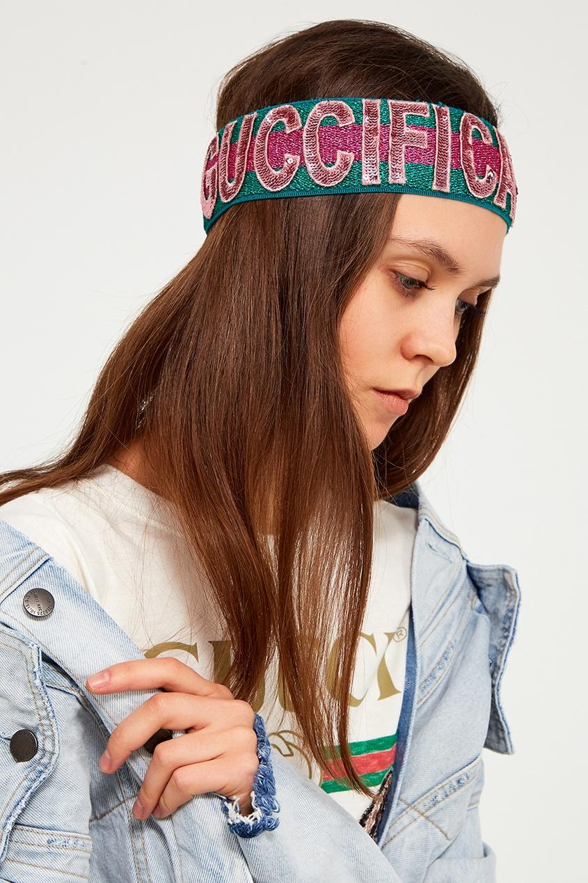 Gucci Блестящая повязка на голову многофункциональная повязка на голову