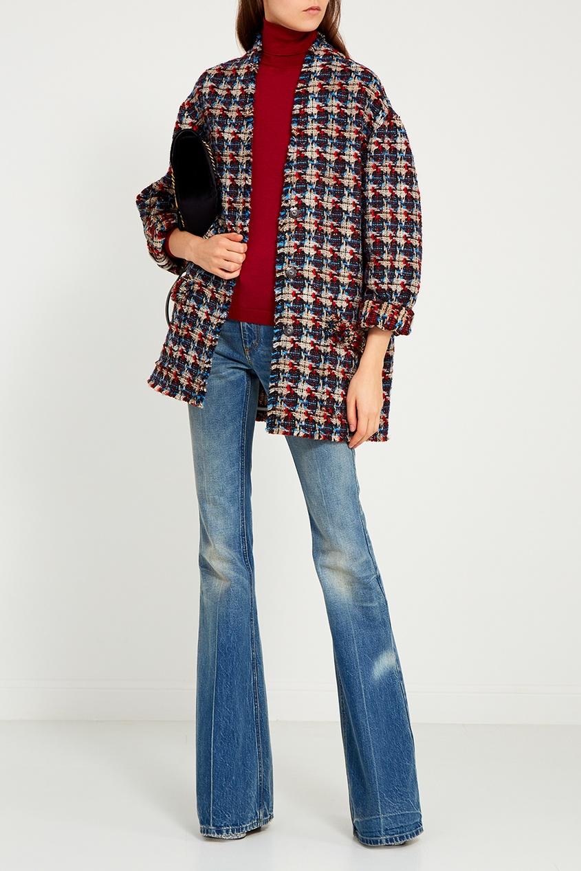 Gucci Расклешенные потертые джинсы джинсы расклешенные