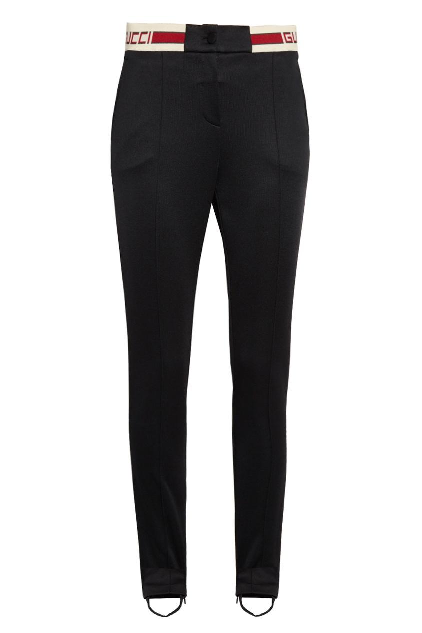 Gucci Черные брюки со штрипками theory черные брюки со штрипками