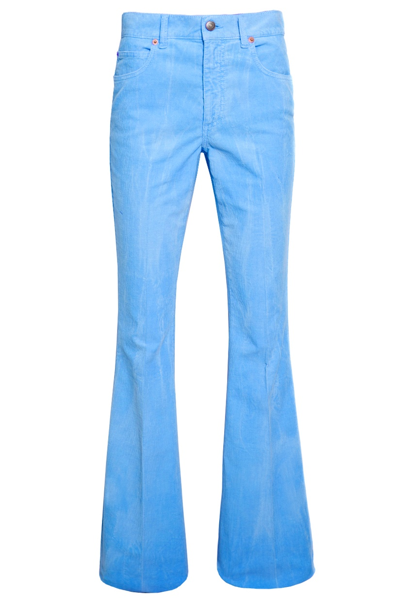 Голубые вельветовые брюки