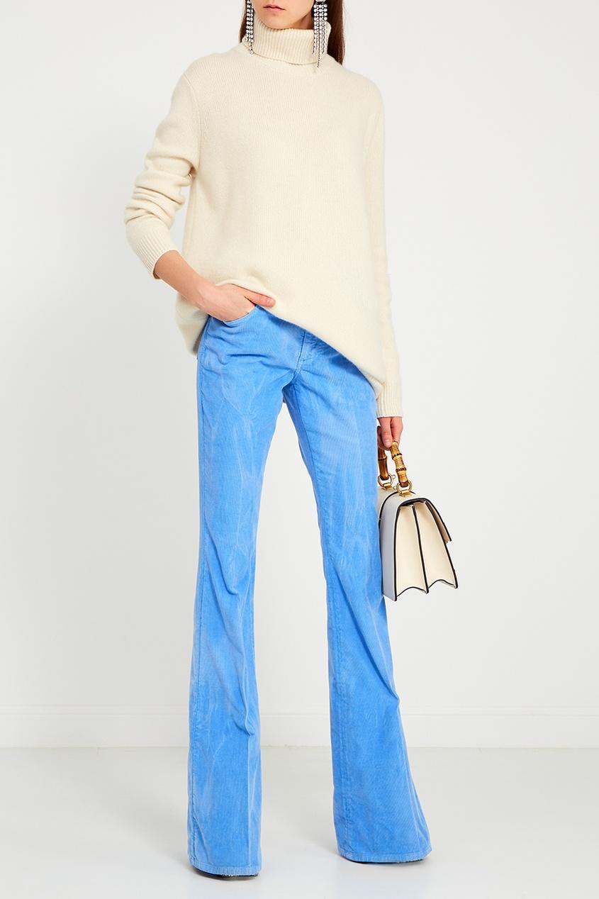 Фото 3 - Кожаная сумка Dionysus от Gucci белого цвета