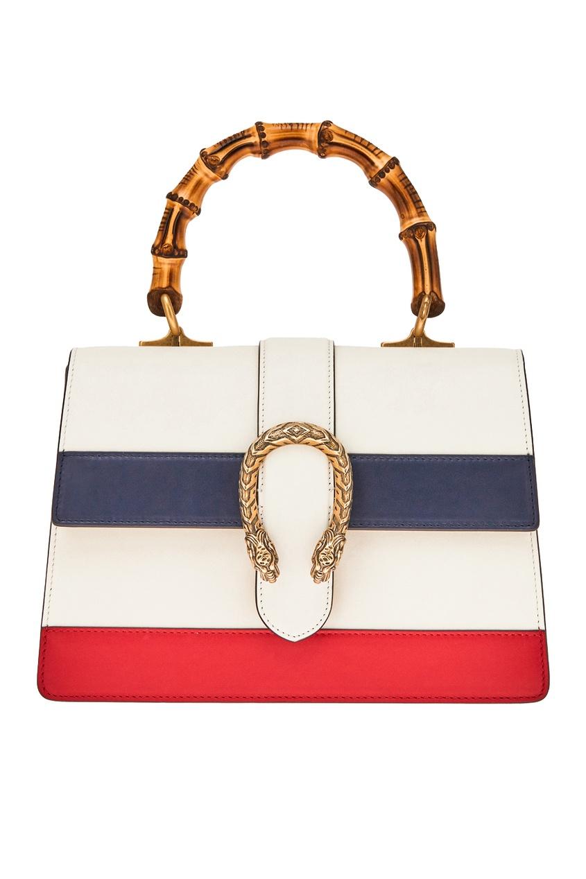 Фото - Кожаная сумка Dionysus от Gucci белого цвета