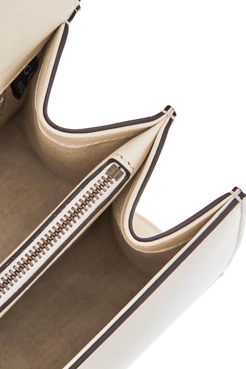 Фото 7 - Кожаная сумка Dionysus от Gucci белого цвета