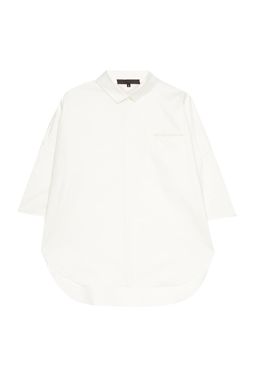 Tegin Белая рубашка на пуговицах tegin льняной топ