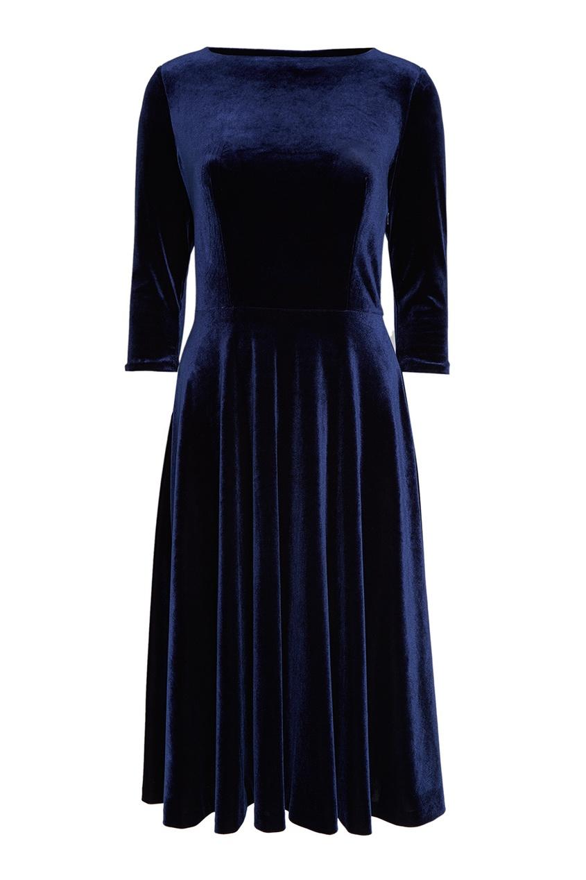 ЛИ-ЛУ Синее бархатное платье экран для ванны triton ирис лу лу