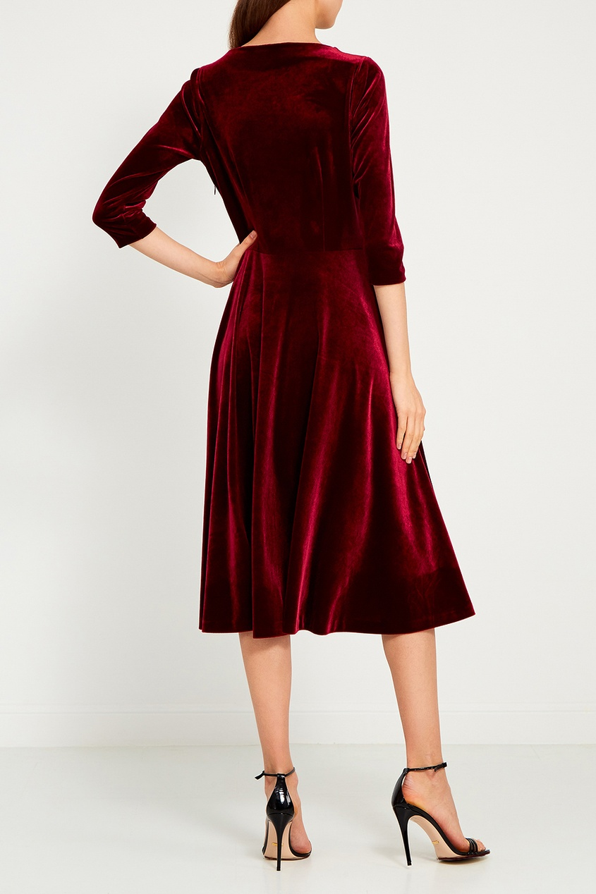 ЛИ-ЛУ Бордовое платье из бархата