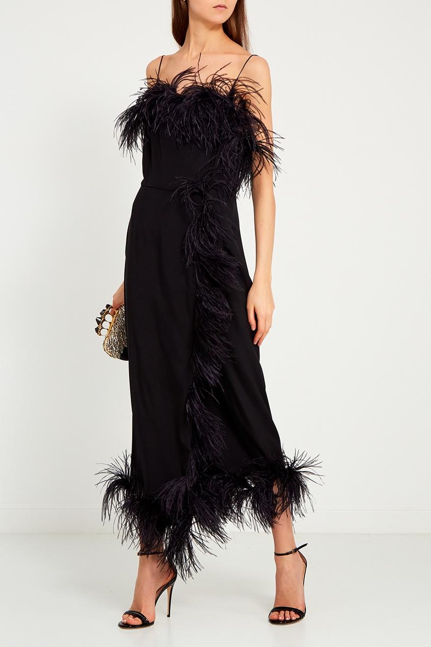 ЛИ-ЛУ Платье с перьями