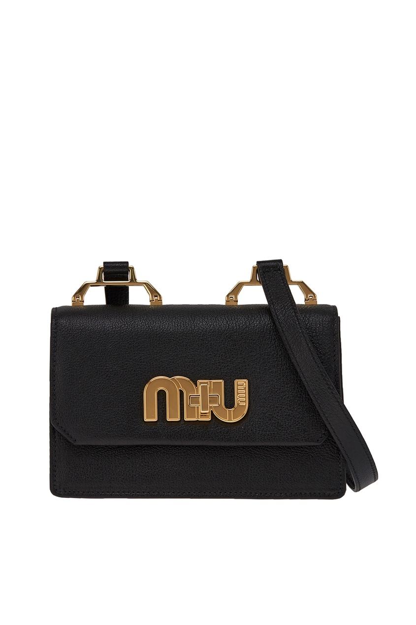 Черная сумка с логотипом Miu Miu