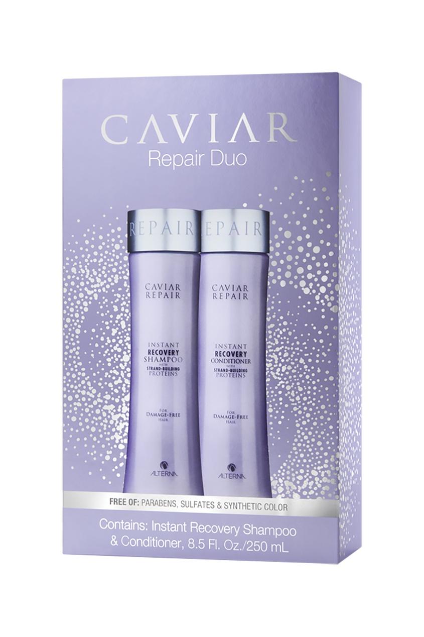 Alterna Набор «Быстрое восстановление» Caviar Repair Holiday Duo (шампунь+кондиционер), 250+250 ml alterna ночная восстанавливающая эмульсия для волос caviar overnight hair rescue 100ml