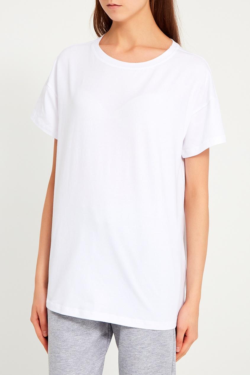 Белая футболка из хлопка