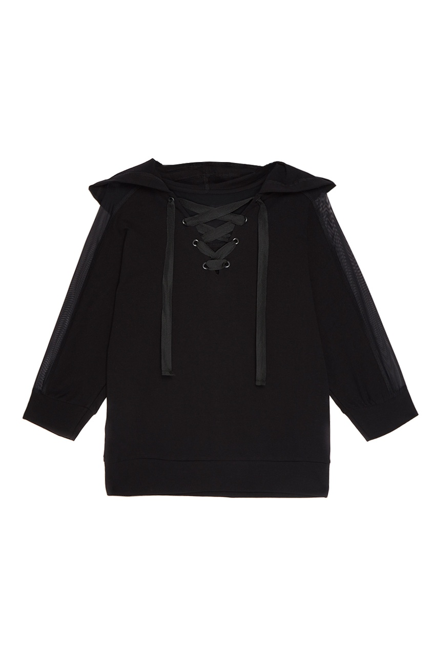 Sport Angel Черное худи с сеткой на рукавах