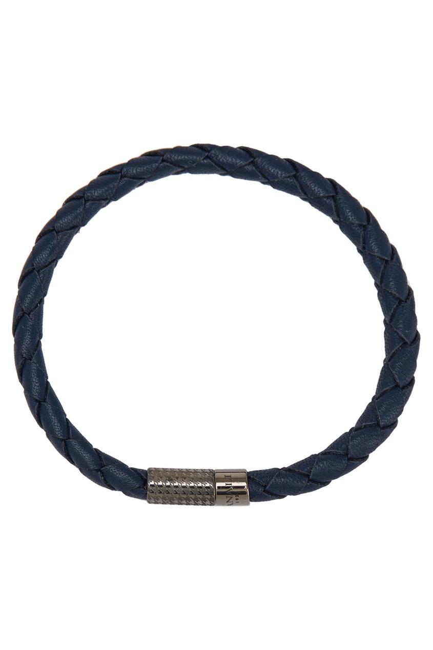 цены Canali Синий кожаный браслет